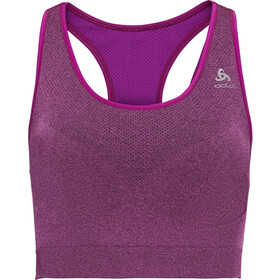 Odlo Seamless Medium Ceramicool Sport BH Dames, purple cactus flower melange
